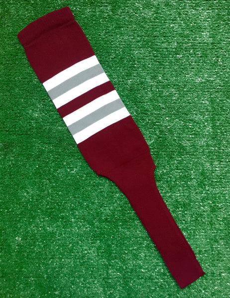 Baseball Stirrups 8 Quot Cardinal With White And Gray Stripes