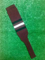 "Baseball Stirrups 8"" Maroon with Three Stripes Black White Black"