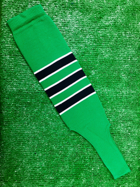 Baseball Stirrups 6 Quot Kelly Green With Black Stripes
