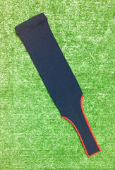 Baseball Stirrups Solid Color Navy Blue with Red (Scarlet) Trim
