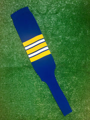 "Baseball Stirrups 8"" Royal Blue with Gold White and Royal Stripes"
