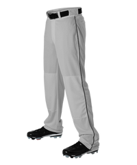 Alleson Baseball Gray Pants with Braid (Various Colors), Youth and Adult sizes