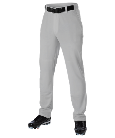 Alleson Open Bottom Baseball Pant Gray
