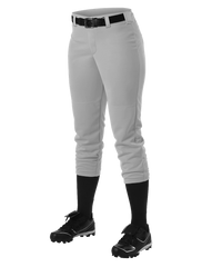 Alleson Fastpitch Gray Pants with Belt Loops