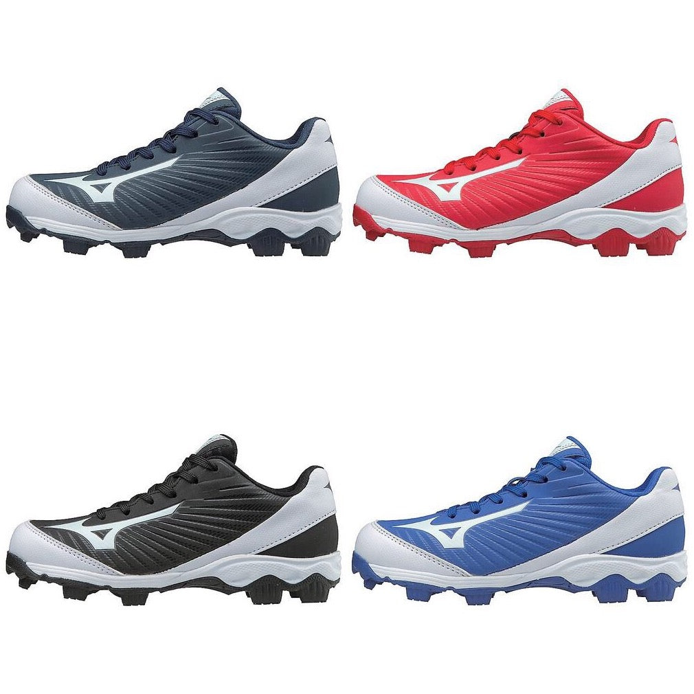 buy popular f48f2 df933 Mizuno 9 Spike Advanced Toddler Youth Franchise Low Molded Rubber Cleats