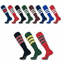 TCK Over the Calf Full Sock with Stripes