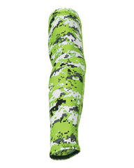 Lime Green Digital Camo Arm Sleeve