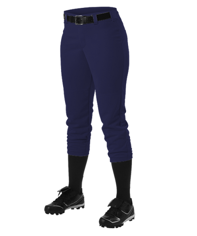 Alleson Fastpitch Navy Pants with Belt Loops