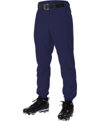 Alleson 605P 605PY Navy Baseball Pants with Elastic Bottom