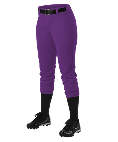 Alleson Fastpitch Purple Pants with Belt Loops