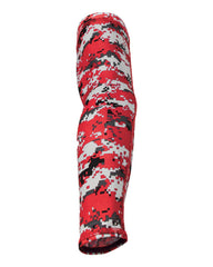 Red Digital Camo Arm Sleeve