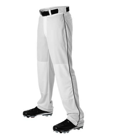 Alleson Baseball White Pants with Braid (Various Colors), Youth and Adult sizes