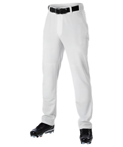 Alleson Open Bottom Baseball Pant White