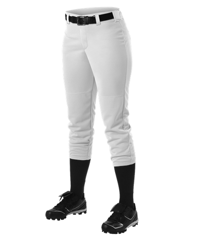 Alleson Fastpitch White Pants with Belt Loops