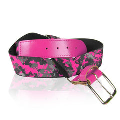 Baseball Digital Camo Elastic Belt PINK