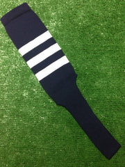 "Baseball Stirrups 8"" Navy Blue with Three White Stripes"