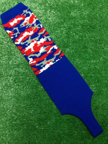 "Baseball Solid Royal and Camo 5"" Stirrups Royal, Red, White and Gray"