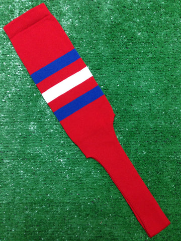 "Baseball Stirrups 8"" Red with Three Stripes Royal White Royal"