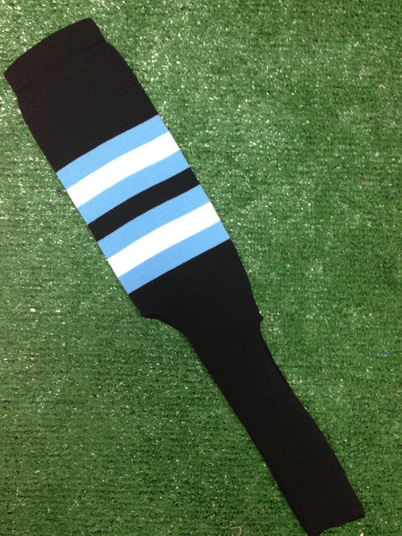 """Baseball Bats For Sale >> Baseball Stirrups 8"""" Black with Columbia Blue and White ..."""