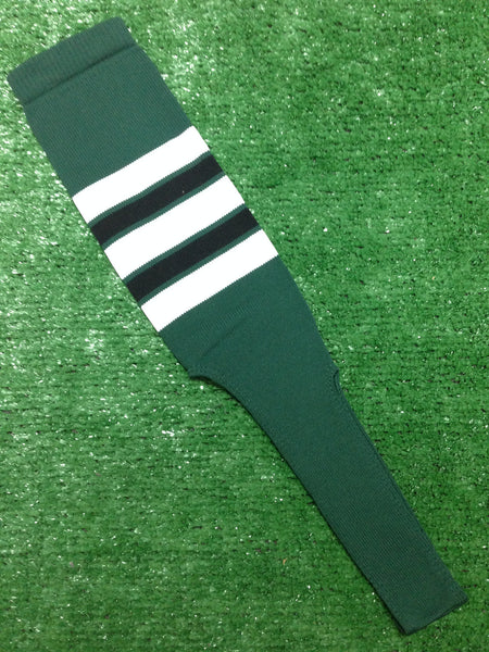 Baseball Stirrups 8 Quot Dark Green With Black White And Green