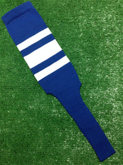 "Baseball Stirrups 4"" or 8"" Royal Blue with Thin Thick Thin White Stripes"