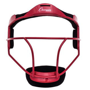 Champion Sports Red Softball Fielder's Face Mask