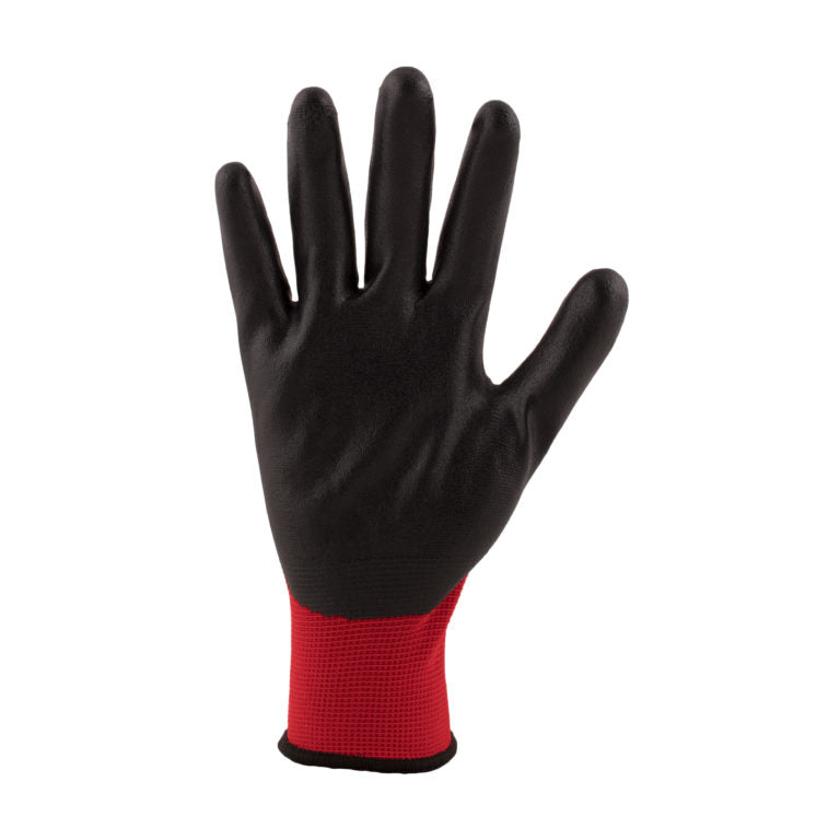 Red PU Coated General Handling Gloves