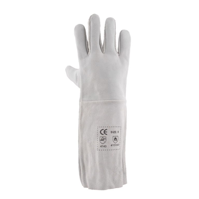 Chrome leather Gloves Elbow length
