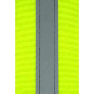 Lime/Silver Reflective Tape 50mm Stitched PRICE P/M
