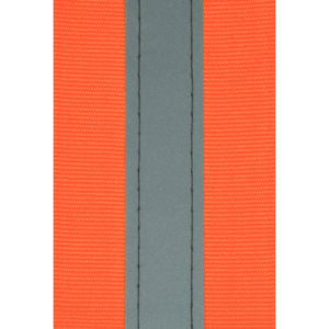 Orange/Silver Reflective Tape 50mm Stitched PRICE P/M