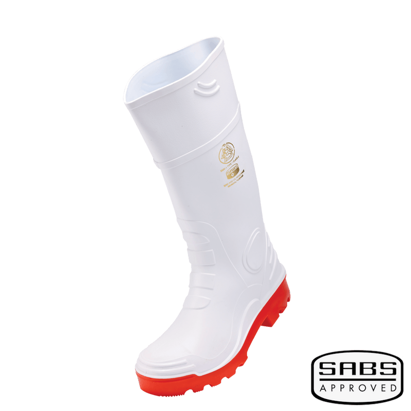 Gumboot Rhino 2 white red STC