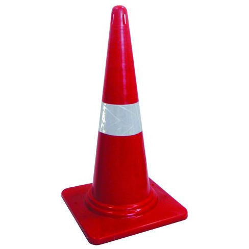 Traffic Cone Flexible Day-glow Orange With Reflective - 450mm
