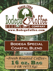 Bodega Costal Blend label