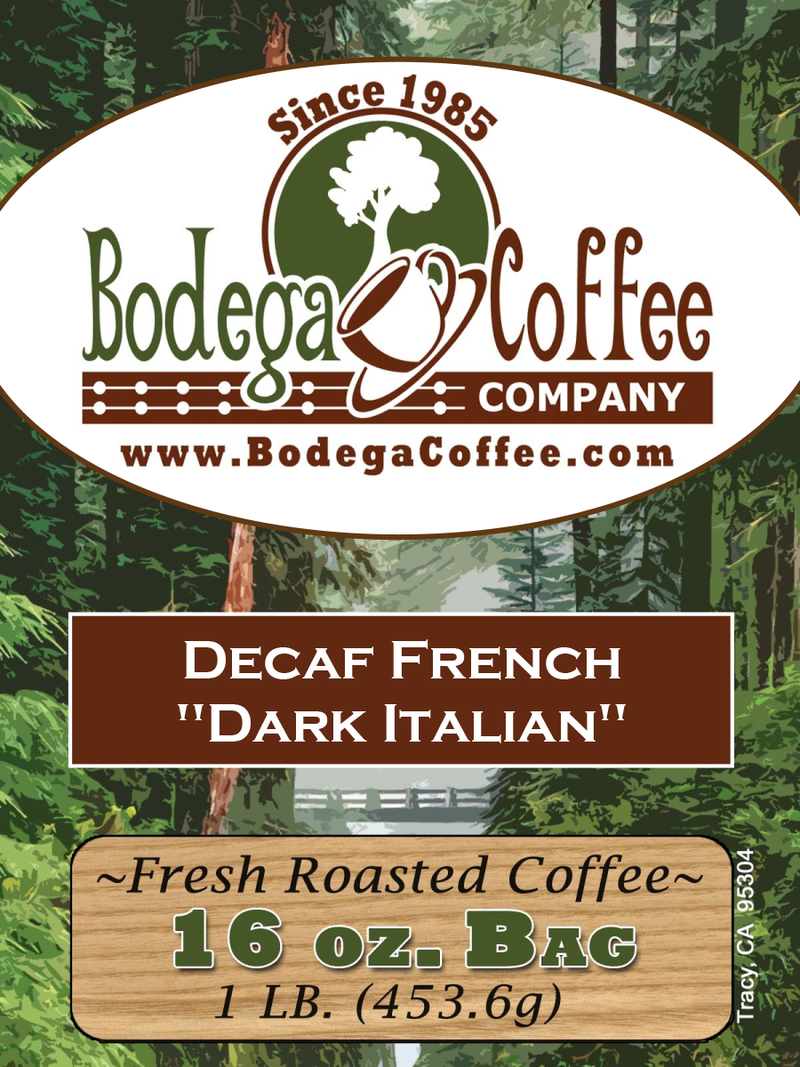 Decaf French Roast label