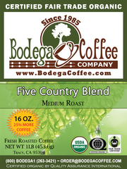 FTO Five Country Blend label
