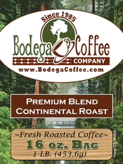 Bodega Premium Continental Roast (Superior Espresso Roast) label