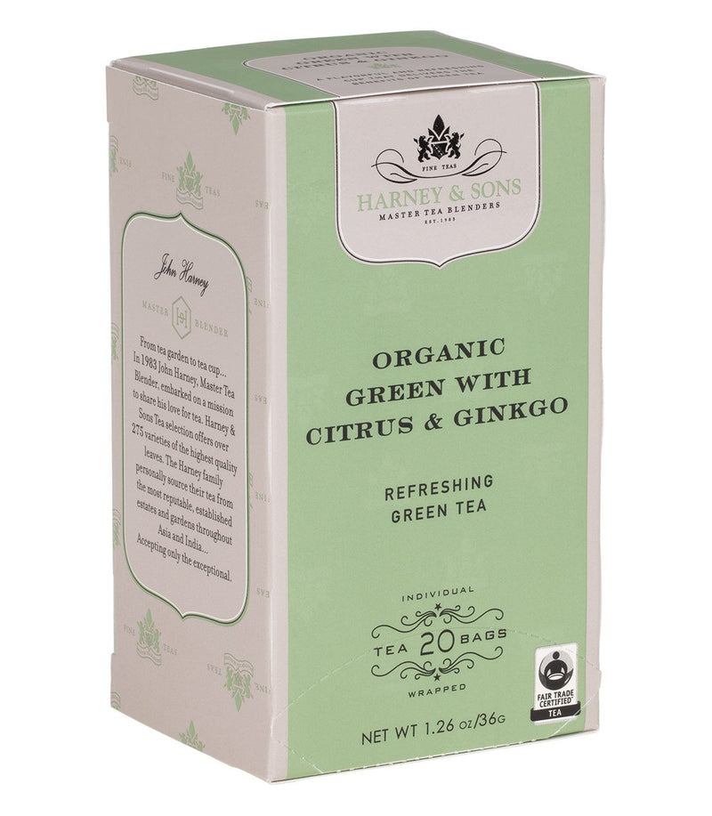 Organic Green with Citrus & Ginkgo Tea Box