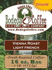 Vienna Roast (Light French) label