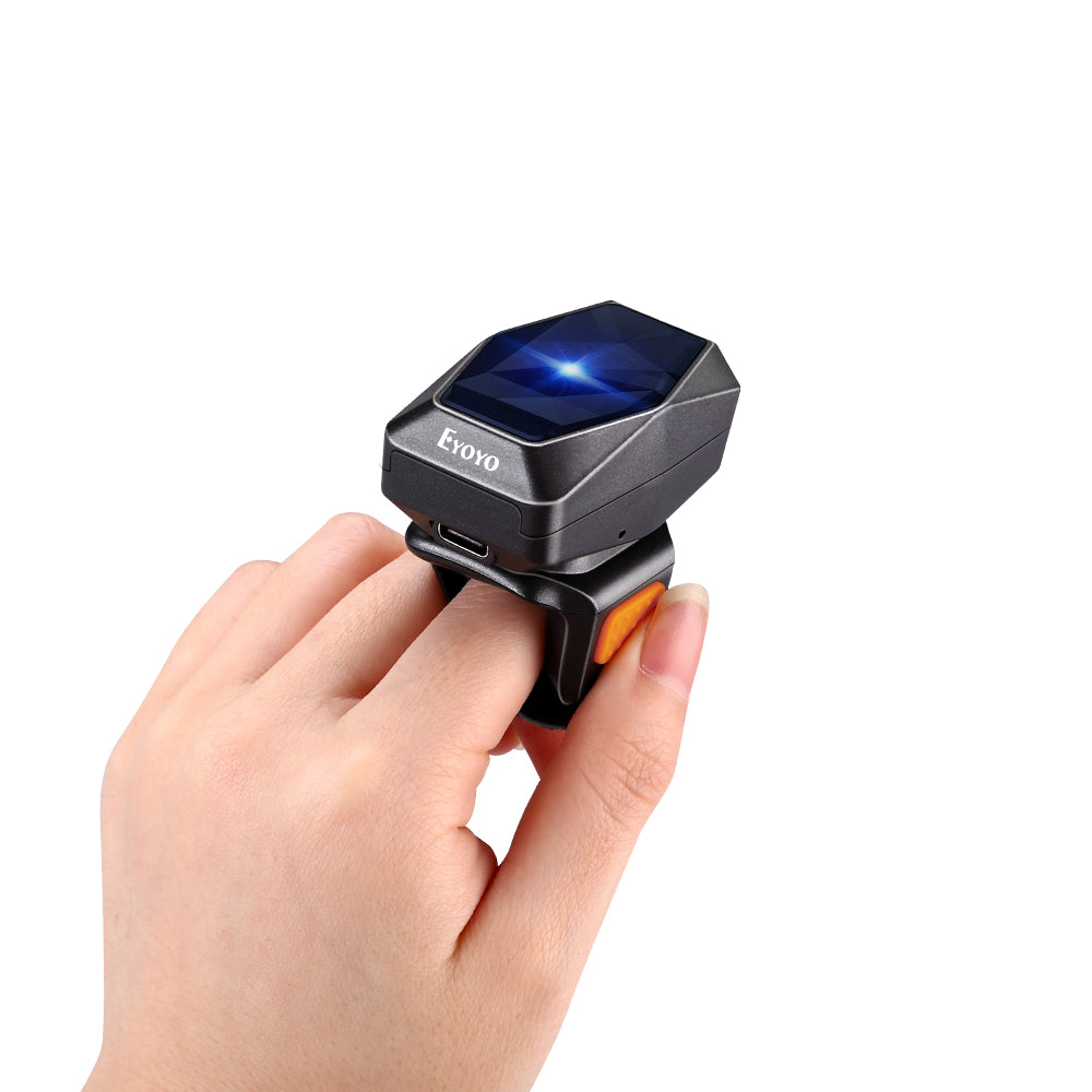 Eyoyo 1D Bluetooth Wearable Ring Barcode Scanner 2.4GHz Wireless&Wired Connection
