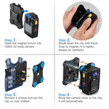 Magnetic Mount Clip for HD66-02 Body Camera Only for HD66-02 Body Camera, Cant Use for Other Model