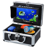 Eyoyo Portable Underwater Fishing Camera Waterproof 1000TVL Video Fish Finder 7 inch LCD Monitor 12pcs IR Infrared Lights for Ice Lake and Boat Fishing (50m Cable)