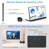 "Eyoyo Portable Computer Monitor 4K Gaming Monitor 13.3"" 3840x2160 UHD IPS Display USB-C Monitor"