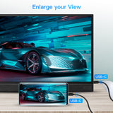"Eyoyo 15.6"" USB C Monitor 1080P IPS LCD Monitor Support Mac Phone Xbox Switch PS4"