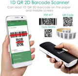 Eyoyo USB Wired&Wireless 2D QR Barcode Scanner Bluetooth CCD 1D PDF417 Data Matrix Bar Code Reader