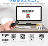 Eyoyo EY-009 Mini Bluetooth 2D Barcode Scanners Compatible with 3-in-1 USB Wired/2.4G Wireless/Bluetooth Bar Code