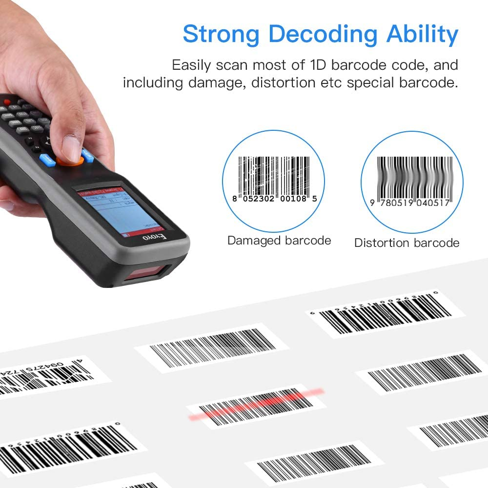 Eyoyo PDT6000 Inventory Scanner, Portable 1D Wireless Barcode Scanner Data Collector