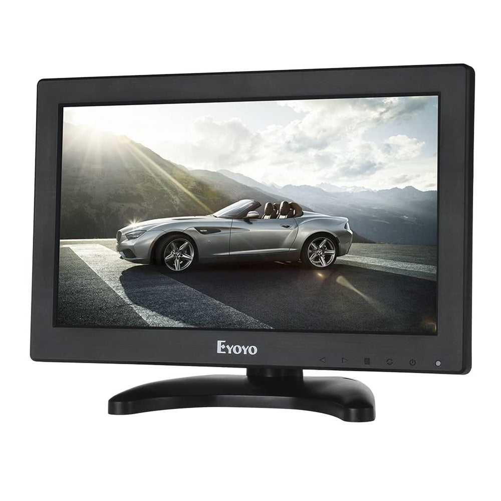 "Eyoyo EM12B 12"" LCD Monitor 1366x768 Portable Mini HD Color Screen Display with Built-in Speaker"