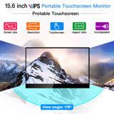 "Eyoyo 15.6"" Touchscreen Monitor 1920x1080 IPS Portable USB C Monitor w/USB-C HDMI Input"