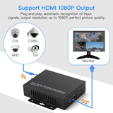 TVI/CVI/AHD to HDMI Converter Adapter, Full HD 4K Convert TVI CVI AHD CVBS BNC Video Signal