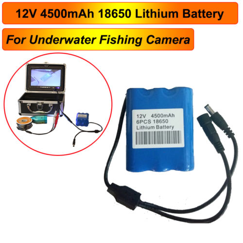 4500mAh Rechargeble Battery Pack for 7 inch 1000TVL Fish Finder Underwater Fishing Video Camera